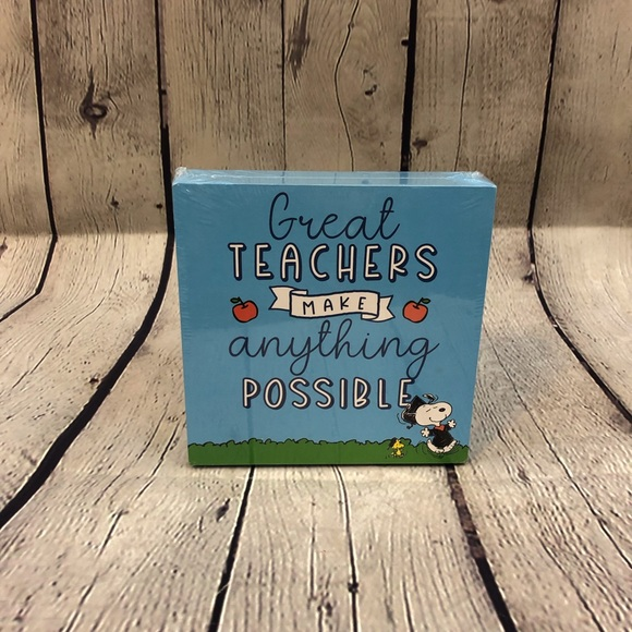 """Great Teachers Make Anything Possible"""" Snoopy Sign"""
